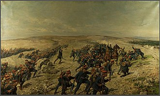 Austro-Hungarian campaign in Bosnia and Herzegovina in 1878 - Assault on Livno (15 August 1878) by Karl von Blaas.