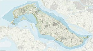 Goeree-Overflakkee - Dutch Topographic map of Goeree-Overflakkee, June 2015
