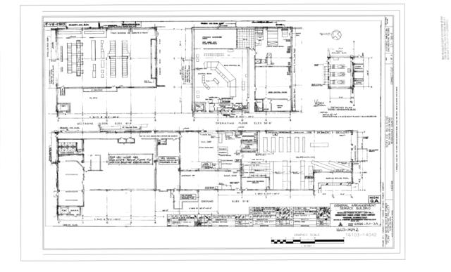 File General Arrangement Service Building Haddam Neck