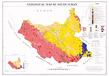 Carte Geologique Afrique Du Sud.Geographie Du Soudan Du Sud Wikipedia