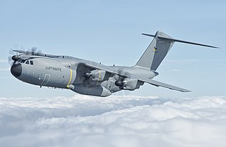 Airbus A400M Atlas Multi-national four-engine turboprop military transport aircraft