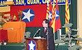 Giáo sư Trần Trọng Đạt đọc diễn văn khai mạc Đại hội Đại Việt Quốc dân Đảng lần 7, Little Saigon, 2012.jpg
