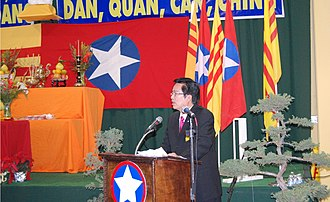 Nationalist Party of Greater Vietnam - Mr Trần Trọng Đạt, the new party chairman at the opening the Congress in Little Saigon, 2012