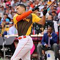 Giancarlo Stanton competes in semis of '16 T-Mobile -HRDerby. (28468364072).jpg