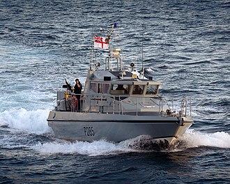 Scimitar-class patrol vessel - Image: Gibraltar Based Patrol Boat HMS Sabre MOD 45153356
