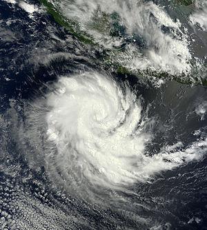 Cyclone Gillian - Cyclone Gillian near Christmas Island on 22 March