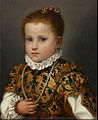 Giovan Battista Moroni, Portrait of a child of the House of Redetti c. 1570. Accademia Carrara, Bergamo.jpg