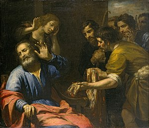Joseph (Genesis) - Joseph's Coat Brought to Jacob by Giovanni Andrea de Ferrari, c. 1640