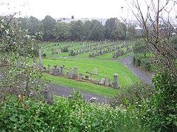 Rain at Glasgow Necropolis.