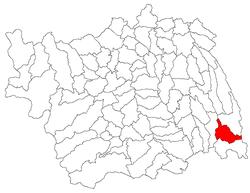 Vị trí của Glavanesti