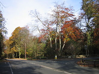 Gledhow - Gledhow Valley Road, junction with Gledhow Lane