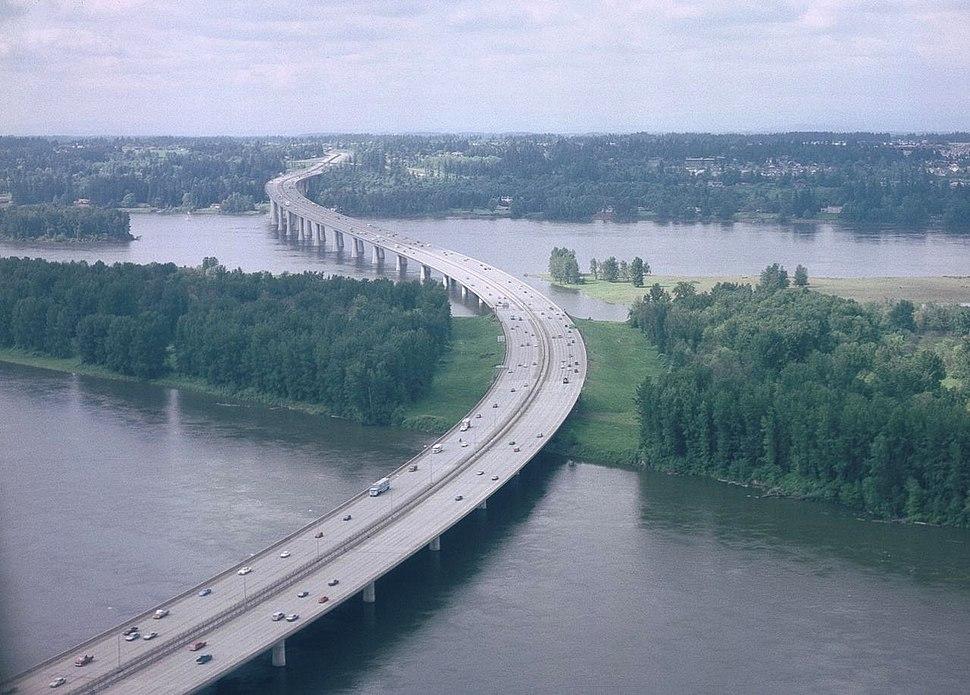 Glenn Jackson Bridge aerial