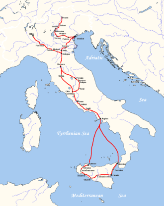 Travel literature - Goethe's Italian Journey between September 1786 and May 1788