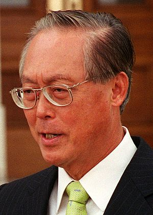 English: Singapore's Prime Minister Goh Chok T...