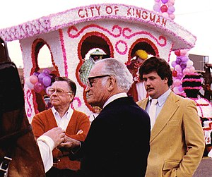 1983 Fiesta Bowl - Senator Barry Goldwater attending the 1983 Fiesta Bowl Parade