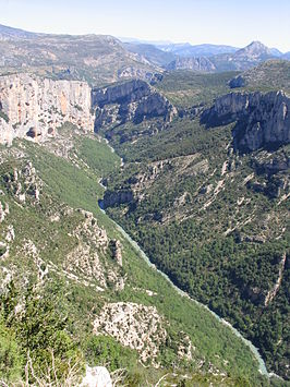 Canyon (gorges) van de Verdon