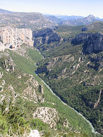 Verdon Gorge - Gorges du Verdon, view from north rim