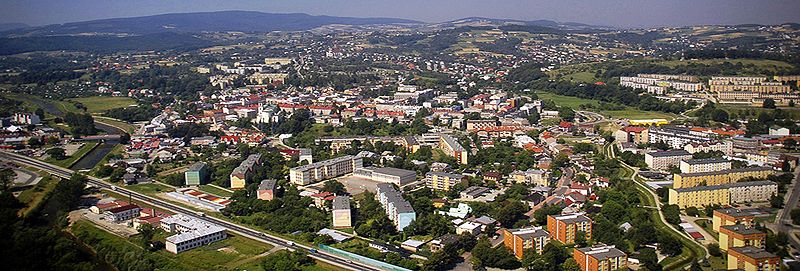 Panoramic view of Gorlice