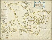 Kort Over Ostersoen Og Den Finske Bugt Hvor Den Tyske Flaade