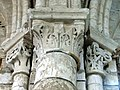 Gournay-en-Bray (76), collégiale St-Hildevert, collatéral nord du chœur, chapiteaux du 2e doubleau, côté sud.jpg