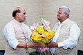 Governor of Tripura Tathagata Roy calling on Union Home Minister Rajnath Singh.jpg