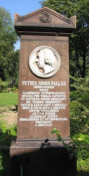 Peter Simon Pallas - Headstone of Peter Simon Pallas in the Berlin-Kreuzberg cemetery