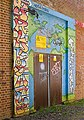 Graffiti on door of Butts Ash electricity substation - geograph.org.uk - 517144.jpg