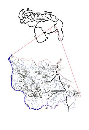 Gran Sabana - Map of Venezuela and the Gran Sabana