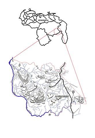 Gran Sabana - Map of Venezuela and the Gran Sabana