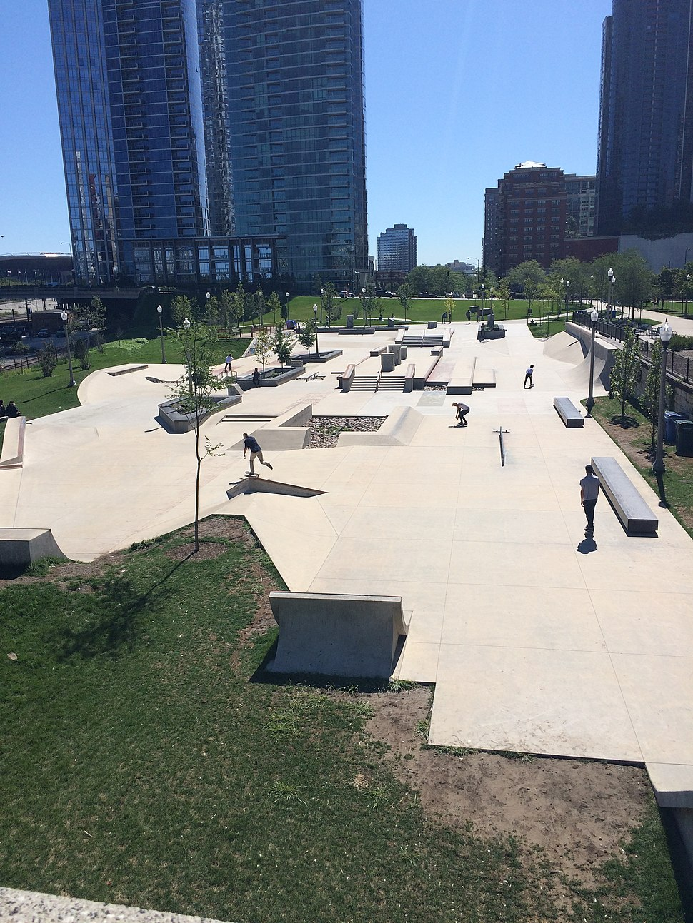 Grant Park Skate Park North View