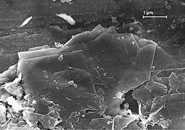 микрография слоистой структуры графита
