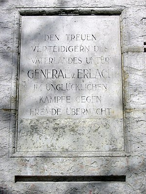 Battle of Grauholz - Tablet on the Grauholz memorial