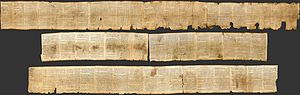 Dead Sea Scrolls - The Isaiah scroll (1QIsaa) contains almost the whole Book of Isaiah.