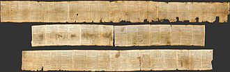 Bible - The Isaiah scroll, which is a part of the Dead Sea Scrolls, contains almost the whole Book of Isaiah. It dates from the 2nd century BCE.