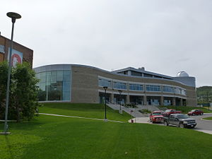 Grenfell Campus - The newly constructed extension to the Arts and Science building, seen in August 2013.
