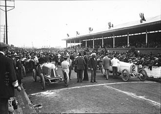 1914 French Grand Prix - Grid before the start