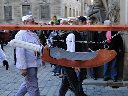 Großes Dresdner Stollenmesser Nachbildung 2011