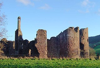 Grosmont Castle Castle ruins in Monmouthshire, Wales