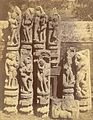 Group of sculptured pilaster figures representing amorous scenes, from the Surya Temple or Black Pagoda, Konark 2 - Orissa 1890.jpg