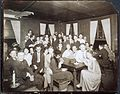 Group portrait, indoors, of people gathered at the Garrett Coffee House, ca. 1912-1917. (9561318539).jpg