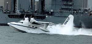 Chalk's International Airlines - Chalk's Grumman Albatross arriving in Miami Harbor from Nassau, Bahamas, in March 1987