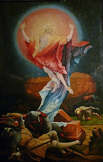 Christian mysticism - Resurrection of Jesus, Matthias Grünewald.