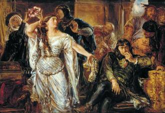 Leszek II the Black - Gryfina and Leszek, painting by Jan Matejko, 1879.