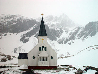 Religion in Antarctica - The Norwegian Lutheran Church at Grytviken, South Georgia.