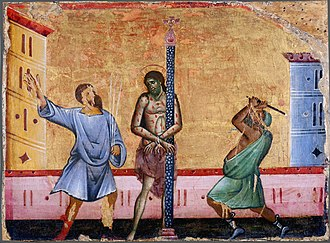 Guido of Siena - Image: Guido Da Siena Flagellation WGA10988