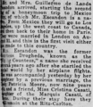 Guillermo de Landa y Escandón in The New-York Tribune on October 25, 1922.png