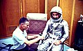 Gus Grissom in Personal Equipment Room of Hangar S.jpg