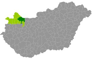 Győr District District in Győr-Moson-Sopron, Hungary