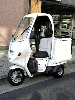 Honda Gyro UP with accessory roof and box