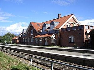 Høng - Platform façade of Høng station.